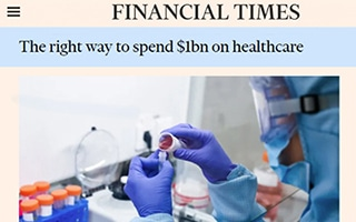 The right way to spend $1bn on healthcare